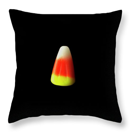 Cooking Throw Pillow featuring the photograph Candy Corn by Romulo Yanes