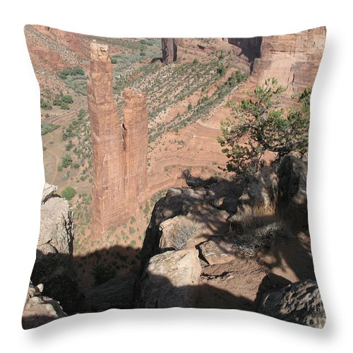 Canyon Throw Pillow featuring the photograph Canyon De Chelly Spider Rock by Christiane Schulze Art And Photography