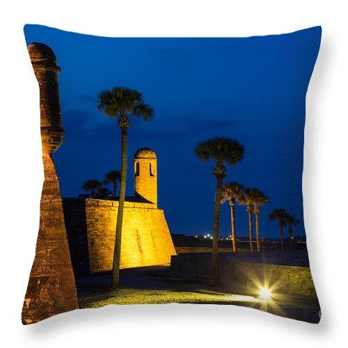 Castillo De San Marcos Throw Pillow featuring the photograph Castillo De San Marcos St. Augustine Florida by Dawna Moore Photography