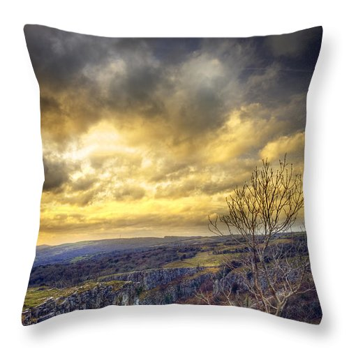 Cheddar Throw Pillow featuring the photograph Cheddar Gorge by Matthew Gibson
