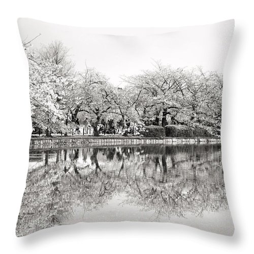Tokyo Throw Pillow featuring the photograph Cherry Blossoms In Tokyo by For Ninety One Days