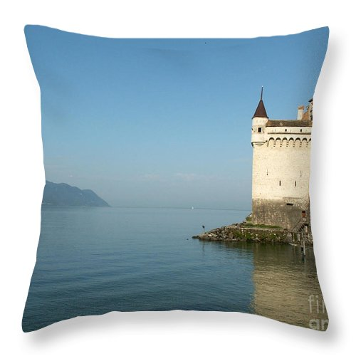 Chillon Throw Pillow featuring the photograph Chillon Castle by Evgeny Pisarev