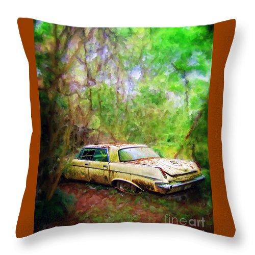 Chrysler Throw Pillow featuring the photograph Chrysler Imperial by Savannah Gibbs