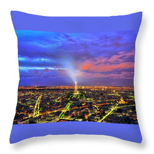 Paris Throw Pillow featuring the photograph City Of Lights by Midori Chan