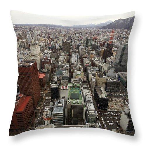 Hokkaido Throw Pillow featuring the photograph Cityscape Of Sapporo, Hokkaido, Japan by Tetsuya Aoki