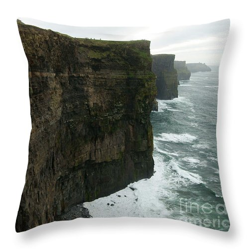 Cliffs Of Moher Throw Pillow featuring the photograph Cliffs Of Moher 1 by Benjamin Reed