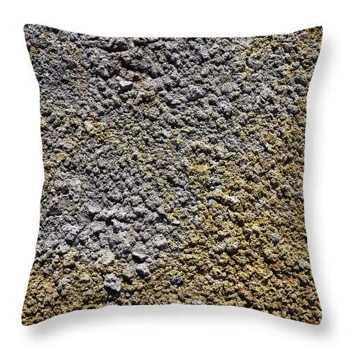 Gypsum Throw Pillow featuring the photograph Close Up Of Sulphur Deposits And Gypsum At Hverir In Iceland by Robert Preston