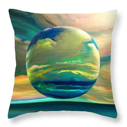 Dreamscape Throw Pillow featuring the digital art Clouding the Poets Eye by Robin Moline