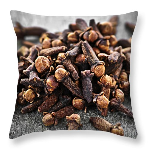 Cloves Throw Pillow featuring the photograph Cloves by Elena Elisseeva