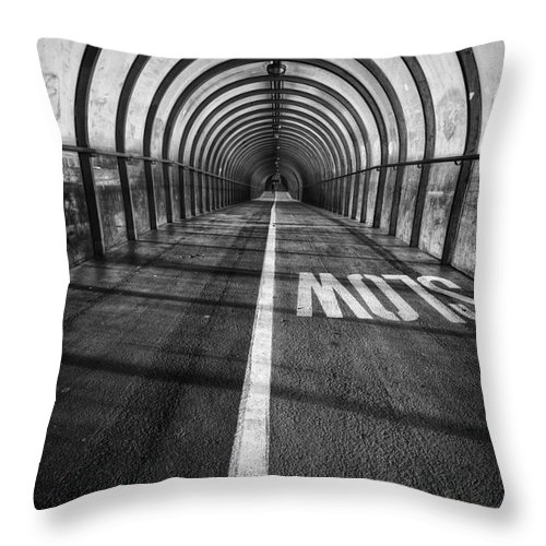 Secc Throw Pillow featuring the photograph Clydeside Walkway by John Farnan