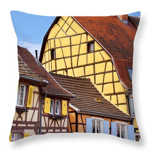Colmar Throw Pillow featuring the photograph Colmar - Alsace by Brian Jannsen