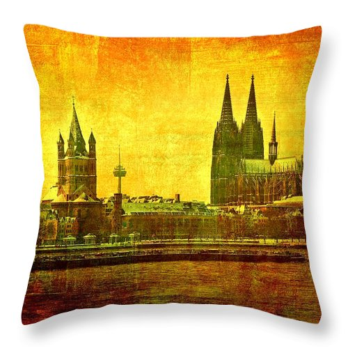 Boat Throw Pillow featuring the photograph Cologne by Gabi Siebenhuehner