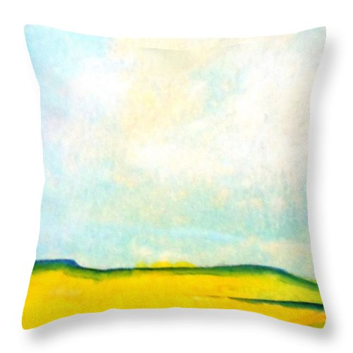 Paintings By Lyle Throw Pillow featuring the painting Colorado Spring by Lord Frederick Lyle Morris - Disabled Veteran