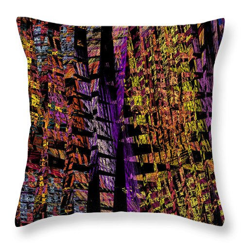 Translucent Throw Pillow featuring the photograph Colorful Computer Generated Abstract Fractal Flame by Keith Webber Jr