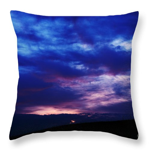 Sunrise Throw Pillow featuring the photograph Colorful December Sunrise by Thomas R Fletcher