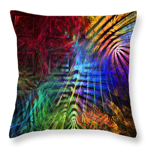 Translucent Throw Pillow featuring the photograph Colorful Psychedelic Abstract Fractal Art by Keith Webber Jr