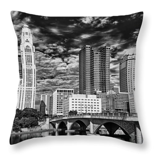 Columbus Throw Pillow featuring the photograph Columbus Ohio Skyline by Mountain Dreams