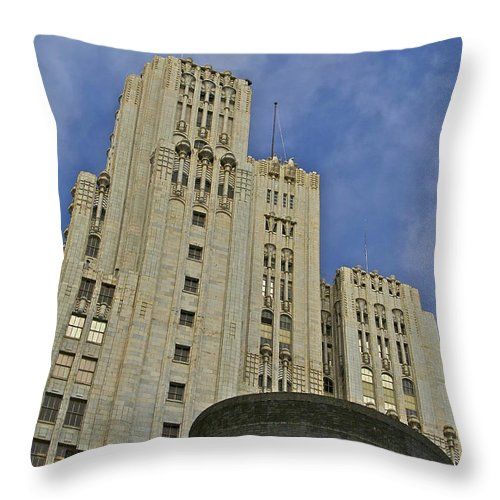 Building Throw Pillow featuring the photograph Corporate Monolith by SC Heffner