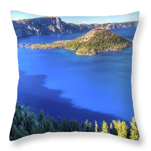 Crater Lake Throw Pillow featuring the photograph Crater Lake, Oregon by Pierre Leclerc Photography