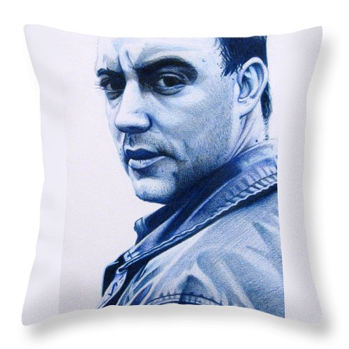 Dave Matthews Throw Pillow featuring the drawing Dave Matthews by Joshua Morton