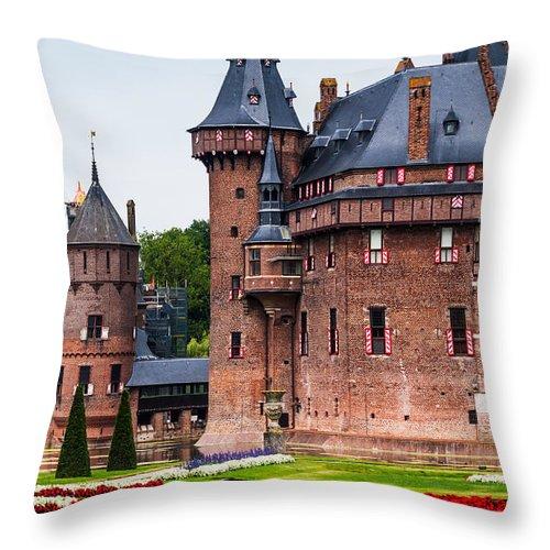 Utrecht Throw Pillow featuring the photograph De Haar Castle. Utrecht. Netherlands by Jenny Rainbow