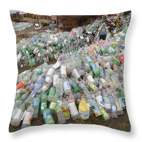 Chile Throw Pillow featuring the photograph Difunta Correa Shrine by John Shaw