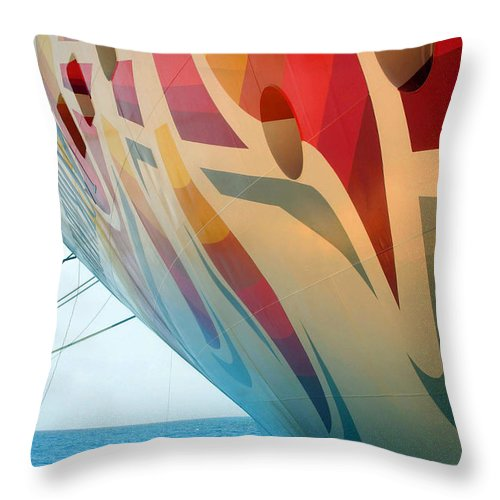 Cruise Throw Pillow featuring the photograph Docked At A Pier by Cora Wandel