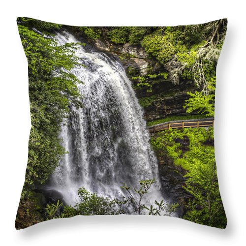 Dry Falls Throw Pillow featuring the photograph Dry Falls by Valerie Mellema