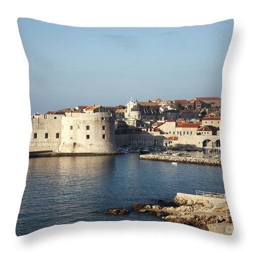 Adriatic Throw Pillow featuring the photograph Dubrovnik In Croatia by Jacek Malipan