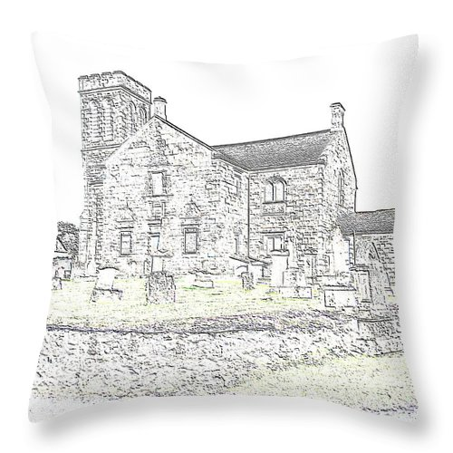 Dunlop Kirk Throw Pillow featuring the photograph Dunlop Kirk IIi by James Potts