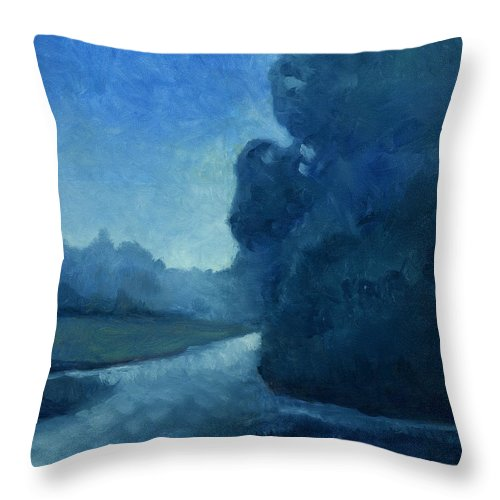 Dusk Throw Pillow featuring the painting Dusk by Katherine Miller