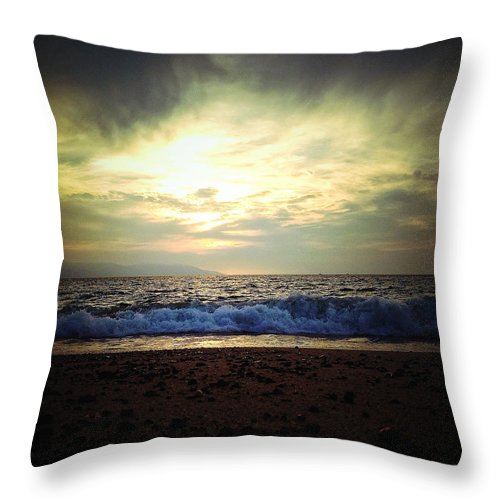 Sunset Throw Pillow featuring the photograph Dusk by Natasha Marco