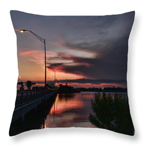 Sunrise Throw Pillow featuring the photograph Early Morning View by Deborah Benoit