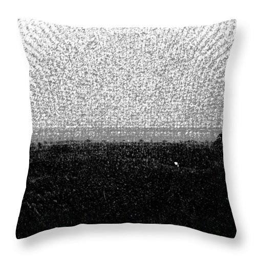 Bird Sanctuary Throw Pillow featuring the digital art Elephant Grass And View Of Bridge by Ashish Agarwal