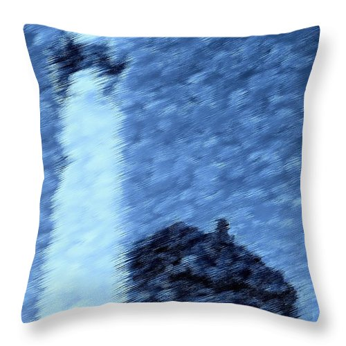 Digital Clone Painting Throw Pillow featuring the digital art Safe Haven by Tim Richards