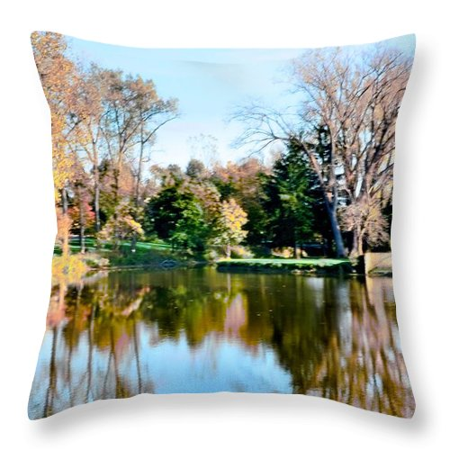 Fall Throw Pillow featuring the photograph Fall Day by Kathleen Struckle