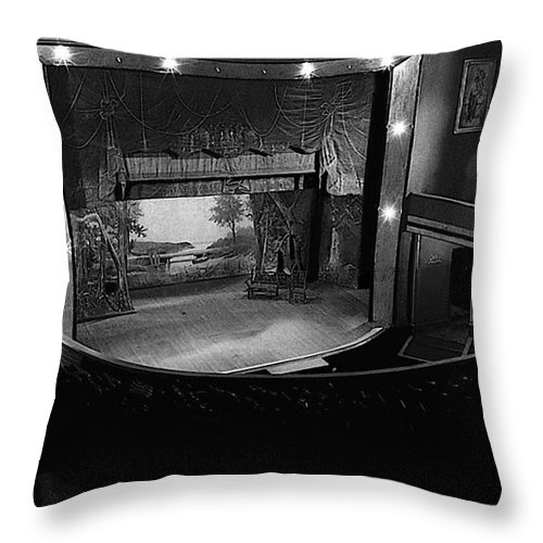 Throw Pillow featuring the photograph Film Homage Charles Foster Kane Orson Welles Citizen Kane 1941 Tabor Opera House 1 Leadville Co 1971 by David Lee Guss