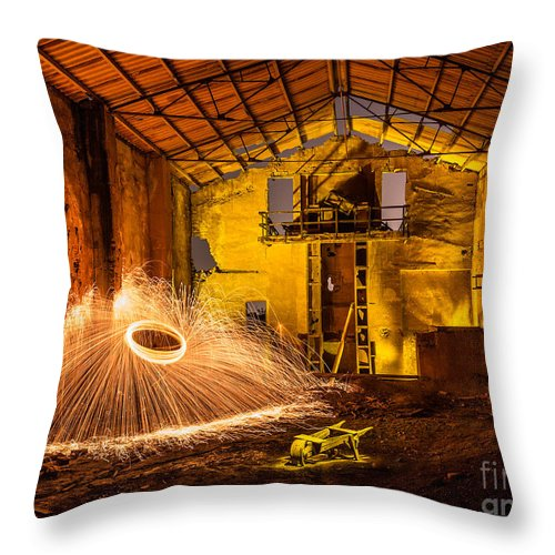 Throw Pillow featuring the photograph Fire by Eugenio Moya