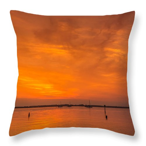 Dawn Throw Pillow featuring the photograph Fire In The Sky by David Kay