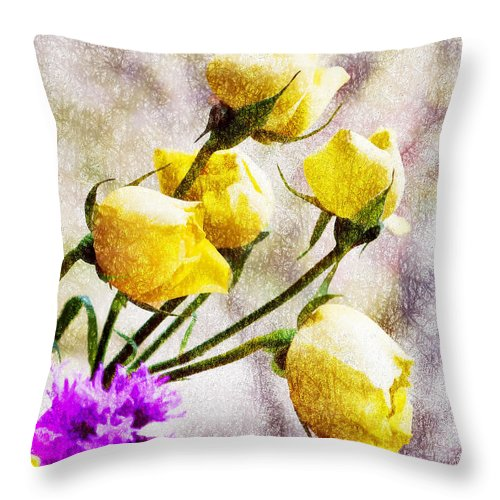 Flowers Throw Pillow featuring the photograph Floral Art Iv by Tina Baxter