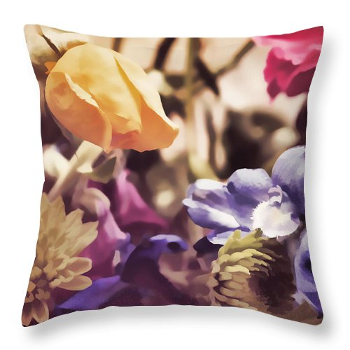 Flowers Throw Pillow featuring the photograph Floral Art V by Tina Baxter