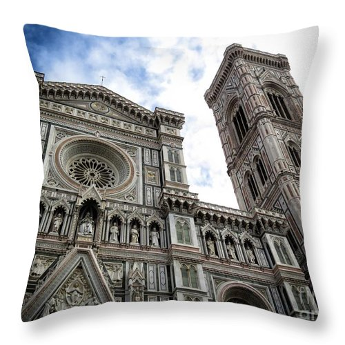 Ancient Throw Pillow featuring the photograph Florence Cathedral by Ulisse