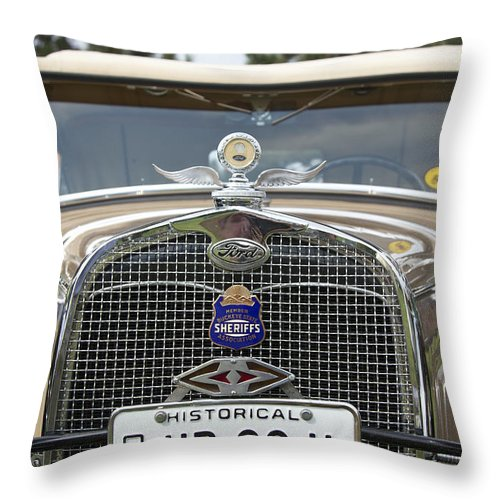 Antique Throw Pillow featuring the photograph Ford by Jack R Perry