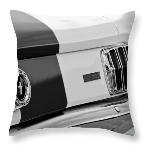 1966 Ford Shelby Mustang Gt 350 Taillight Throw Pillow featuring the photograph 1966 Ford Shelby Mustang Gt 350 Taillight by Jill Reger