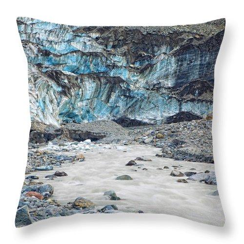 Glacier Throw Pillow featuring the photograph Fox Glacier by Alexey Stiop