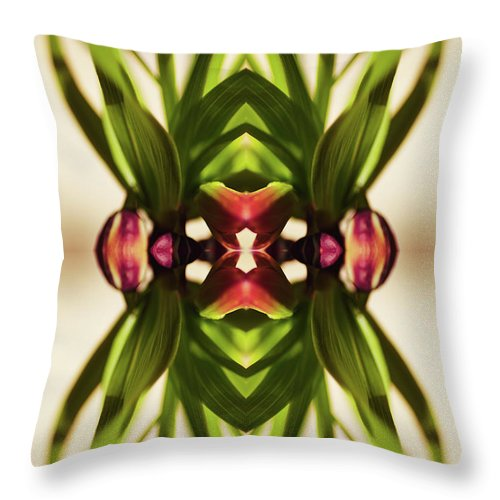 Fritillaria Throw Pillow featuring the photograph Fritillaria Flower Plant by Silvia Otte