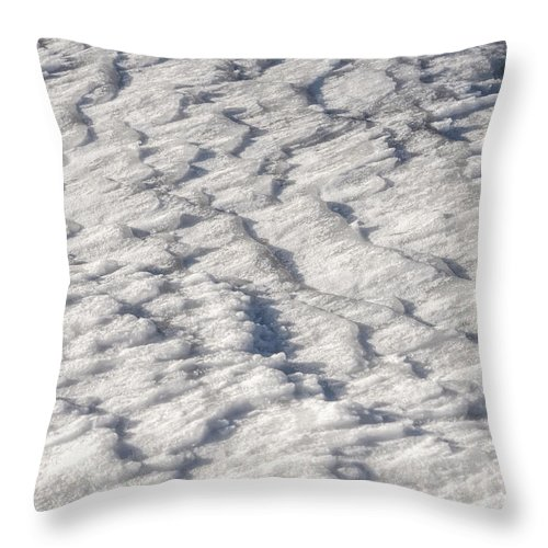 Dnieper Throw Pillow featuring the photograph Frozen River by Alain De Maximy