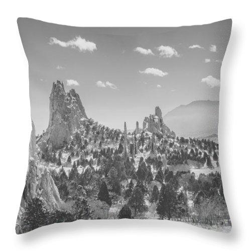 Garden Of The Gods Throw Pillow featuring the photograph Garden Of The Gods by Zane Isaac