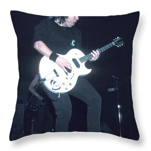 Pictures For Sale Throw Pillow featuring the photograph Musician George Thorogood by Concert Photos