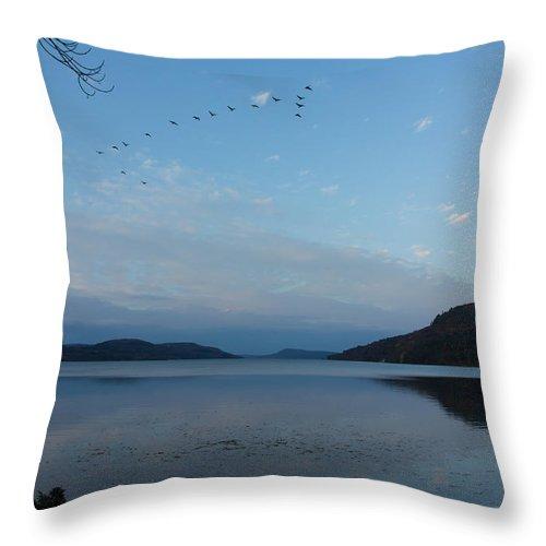 Otsego Lake Throw Pillow featuring the photograph Glimmerglass Evening by Jeff Kantorowski